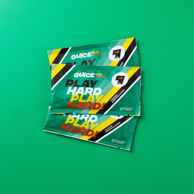 GUICE Real Energy - Play Hard Play Hard! (Tropická) 3x 10g balení
