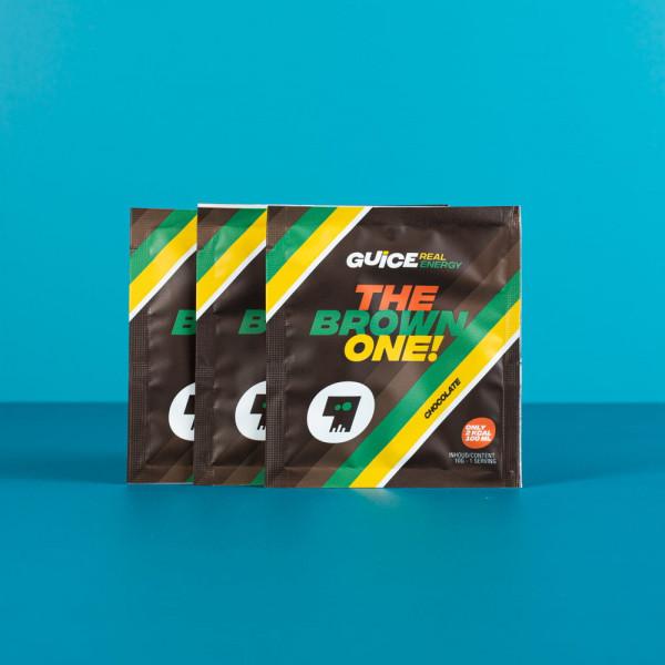 GUICE Real Energy - The Brown One (Čokoládová příchuť) 3x 10g balení