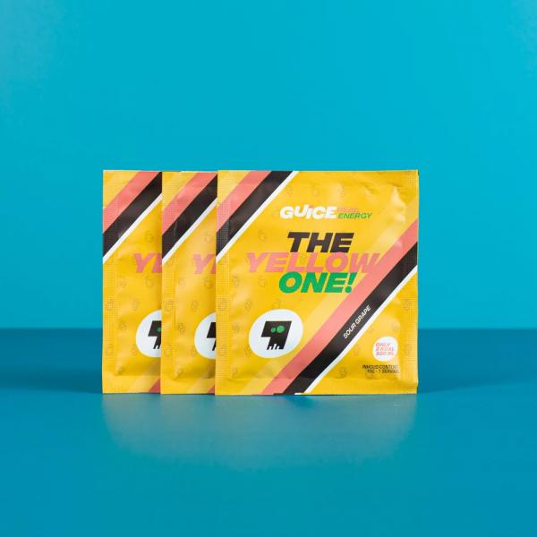 GUICE Real Energy - The Yellow One!  (Kyselé hrozny) 3x 10g balení