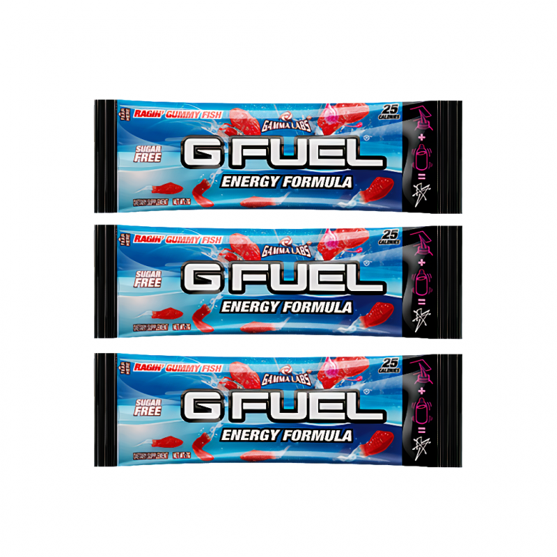 G FUEL Ragin' Gummy Fish (FaZe Jev) - 3x 7g balení