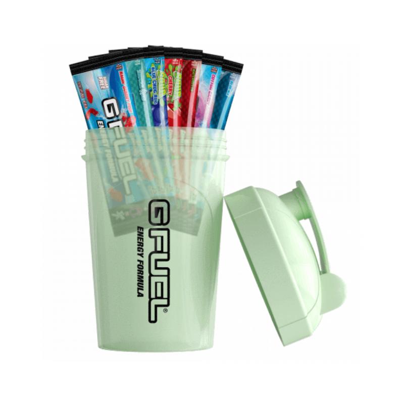 G Fuel Starter kit - Svítící shaker + 7 testovacích balení