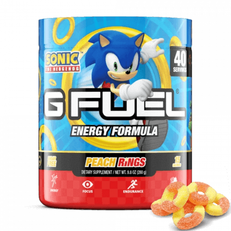G FUEL Sonic's Peach Rings