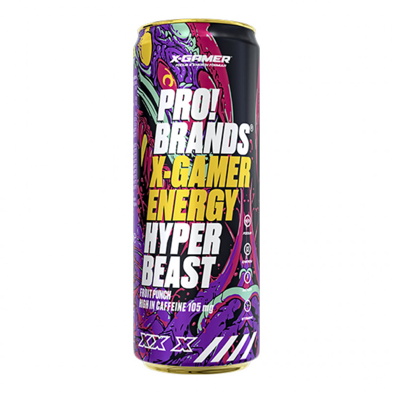 PRO!BRANDS X-Gamer Energy Hyper Beast Fruit punch 330ml